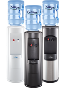 Trio of Culligan Bottled Water Dispensers